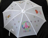 Peace and Love Umbrella - Personalized - Child Youth