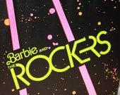 SALE Barbie and The Rockers Trunk Case 1980s Sensation Black large size
