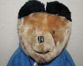 Paddington Bear Doll Plush Stuffed Bear with his tag Eden toys New York 1973