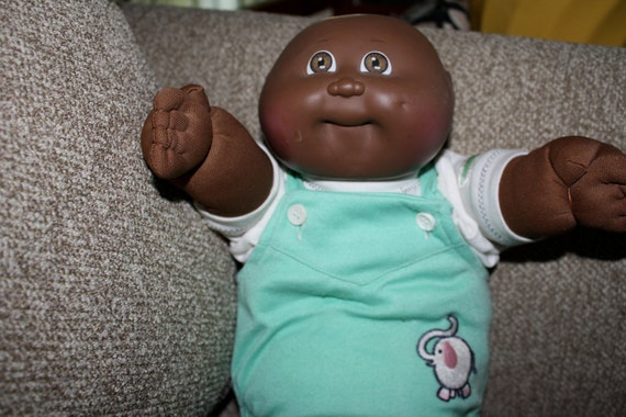 Items similar to Cabbage patch kid Doll Preemie Black ...