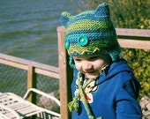 Little Monster Hat Knitting Pattern PDF