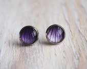 Sold out - California Wild Flower Stud Earrings - purple - Isobell Jewelry