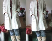 Trench Coat With Handmade Buttons/ 12 Colors/ RAMIES