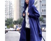 Free Style Zipper Hoodie Jacket with Cotton Lining/ Winter Coat/ 8 Colors/ RAMIES