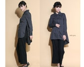 Split Your Sides with Joy Linen Long Blouse/ 28 Color/ Any Size/ RAMIES