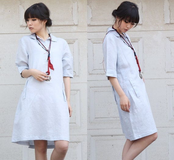 All in a Row Lovely Linen Short Dress/ 36 Colors/ RAMIES/ RAMIES