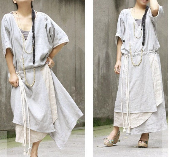 Special Wrap Dress /Coat and Layered Skirt/ More Color Schemes/ RAMIES