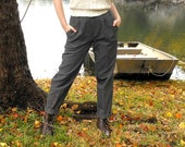 Classic Plaid High Waisted Vintage Pleated Trousers Size 4