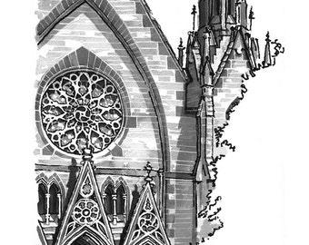Baltimore Church -  print