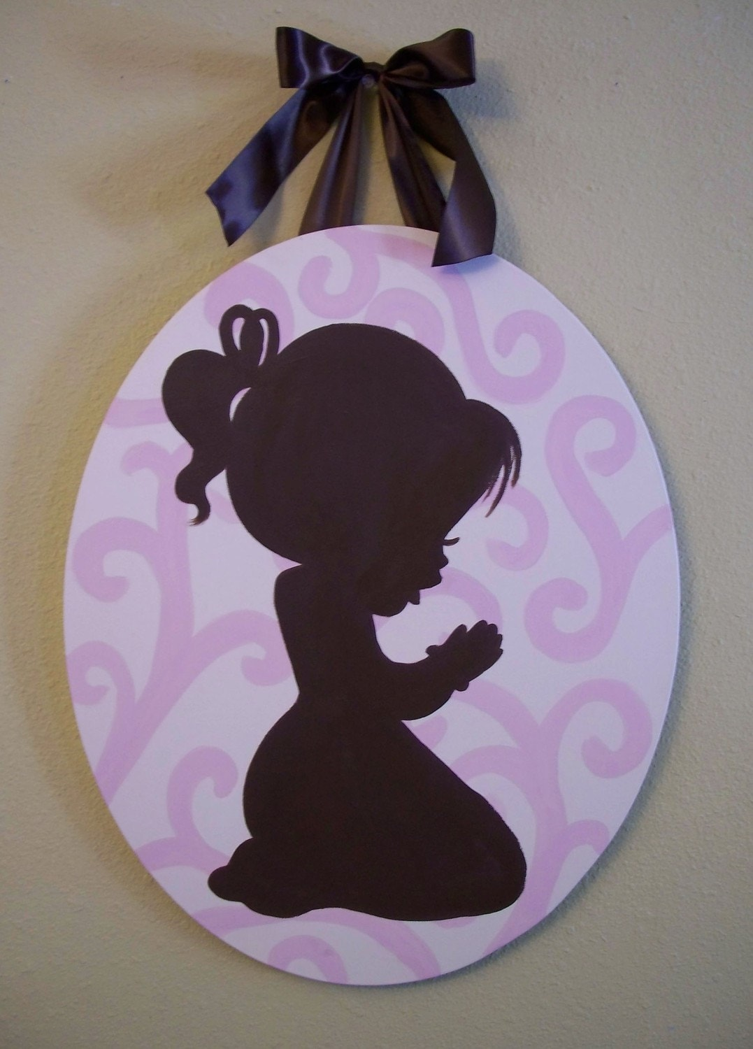 Praying Child Silhouette By Addilyneli On Etsy