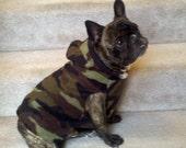 French Bulldog Camo Fleece Hoodie