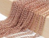 ROSE Gold Plated, Round chain-1 meter. JAPAN