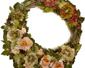 """CUSTOM ORDER FOR C.P -- Bed of Roses 24"""" Wreath"""