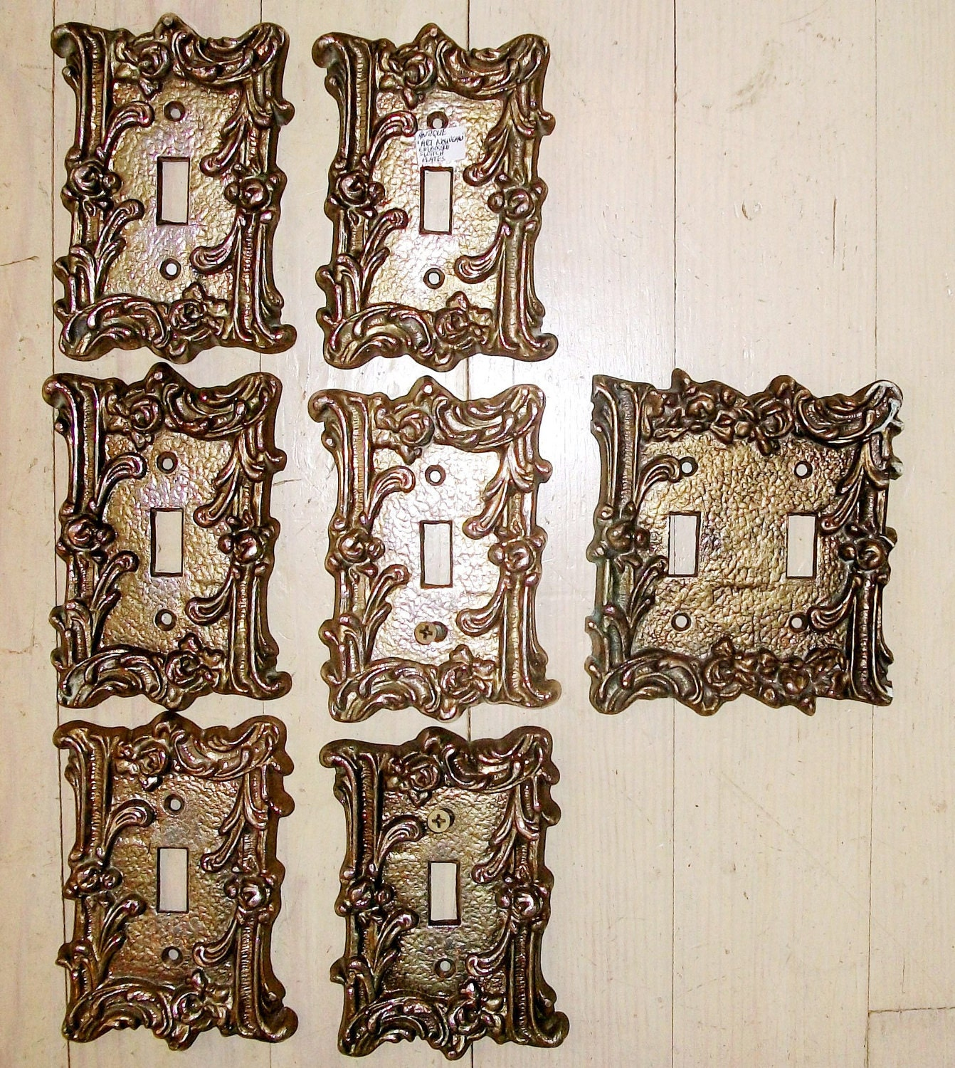 Vintage Decorative Iron Switch Plates Sale 7 Hollywood