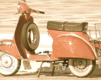 Red Vespa fine art photography - europeanstreetteam