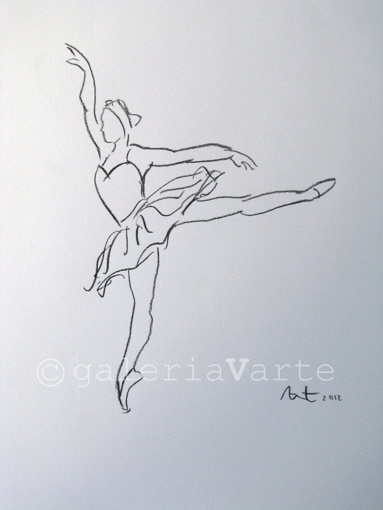 Ballet Drawing Swan Lake Original By