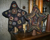 Primitive Folk Art Stars Rug Hooking Pattern FAAP