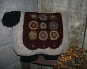 E PATTERN Primitive Penny Sheep Pillow Rug Hooking PDF