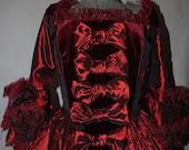 Burgundy Marie Antoinette Handmade Gown Costume