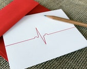 letterpress valentine - heartbeat