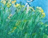 Blank notecards (6) Summer Breeze celebrating Wind Power