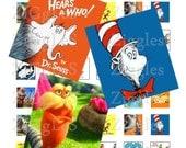 Dr Seuss Digital Scrabble Tile Collage Sheet - .75 x .83 - Buy 2 Get 1 Free