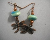 Vintage Style Dragonfly Earrings