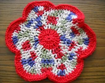 Crocheted Primrose Dish Cloth