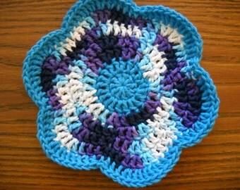 Crocheted Primrose Dishcloth