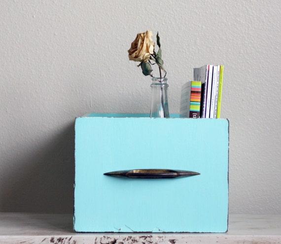 Aquamarine vintage drawer