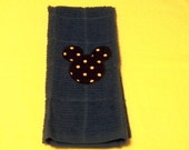 Mickey Mouse Embroidery Dish Towel