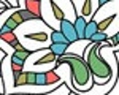 Premade Banner/Av Shop Set - 2 piece - Colorful Paisley