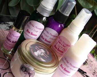 YOU CHOOSE 6. Shea & Cocoa Body Cream, Perfume Roll On, Body Hair Mist, Detangler Leave In, Body Hair Oil Spray, Conditioner Leave In.