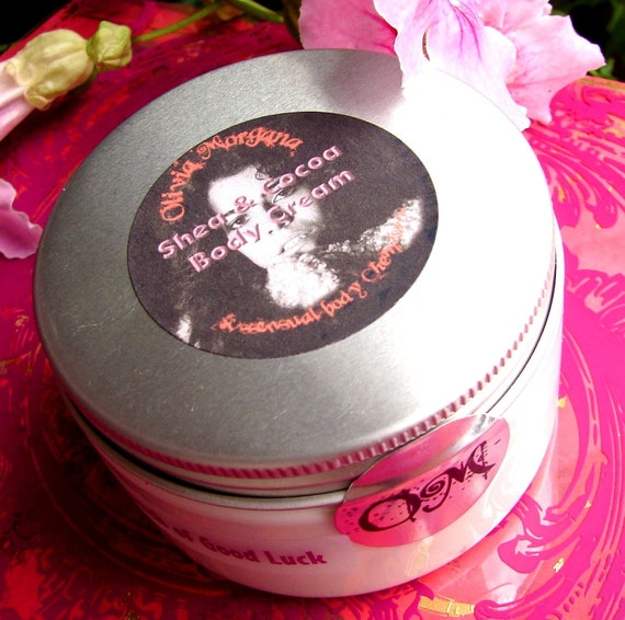 Body Cream FRANKINCENSE AND MYRRH Scented Shea and Cocoa Butters, Vitamins, Japanese Green Tea, Oils. Natural. Paraben free. Olivia Morgana.