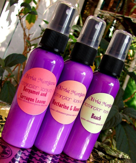 MAGIC POTION. Scented Hair Detangler Leave In. Paraben and Alcohol free. 96% Organic. Olivia Morgana.