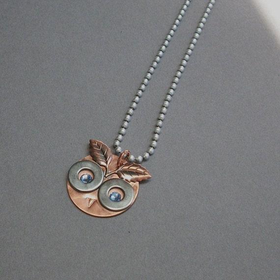 Owl Jewelry Repurposed Hardware Necklace Copper