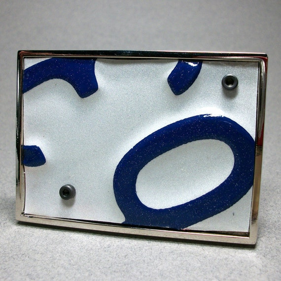 Belt Buckle Mens Womens Upcycled License Plate NY