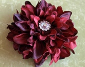 Peony Flower Clip for Headband, Hats, Beanies or Hair