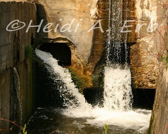 Waterfall photography, waterfall photo, nature print, photography print, Waterfall note card, photo note card, Waterfall card, photo card