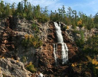 Photography print, nature photography, Waterfall photography, Canada waterfall, landscape print, Canada photography, Photo print,