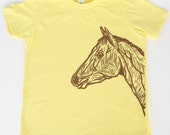 Horse on Lemon American Apparel T Shirt