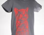 Cat on Slate Children's American Apparel T Shirt