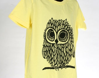 Owl on Lemon American Apparel T Shirt