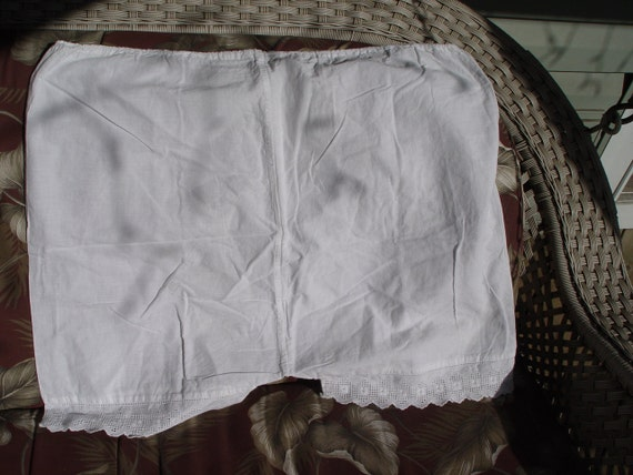 Vintage Antique Square Bloomers with eyelet trim