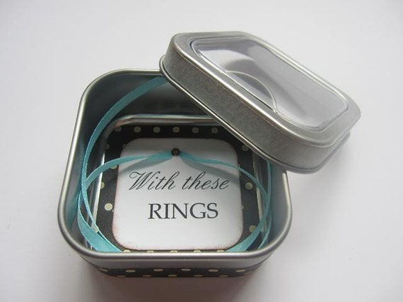 wedding ring jewelry box with these rings tin by jennabdesigns