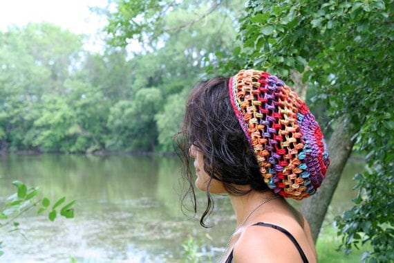 Summer Slouch Hat - Rainbow