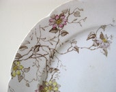 RESERVED for Gweneth, English Floral Plate