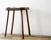 RESERVED for mudpuppy - Primitive Stool with Twig Legs