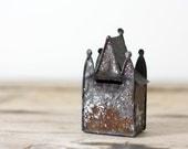 Antique Tin Castle Bank