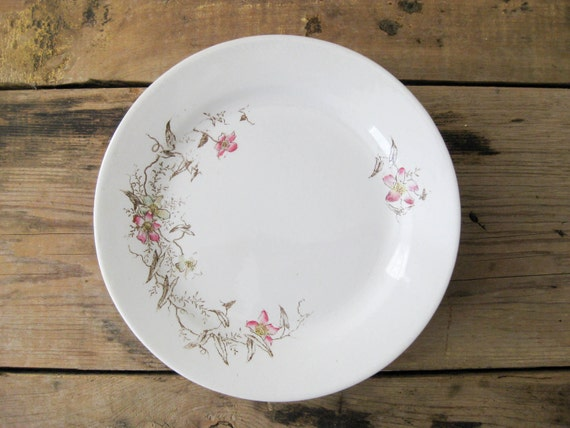 Floral Ironstone Plates, Set of Four